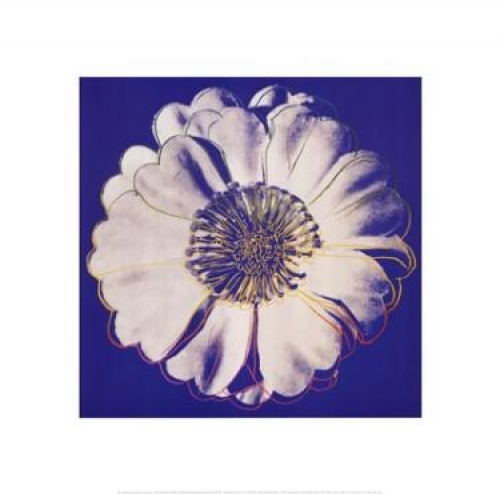 Flower for Tacoma Dome, c. 1982 (blue & white)