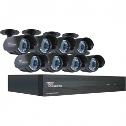 8-Channel STA 500GB DVR with 8 Night Vision Cameras and Smartphone Viewing