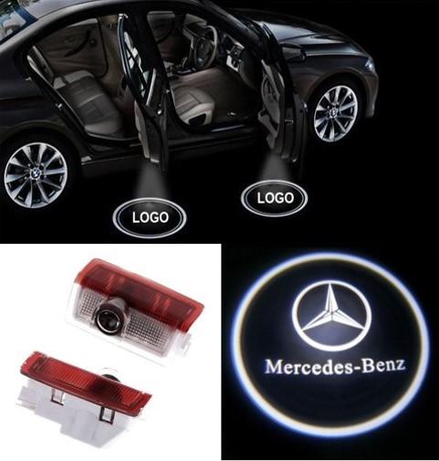 Led ghost shadow car door courtesy light for mercedes for Mercedes benz door lights