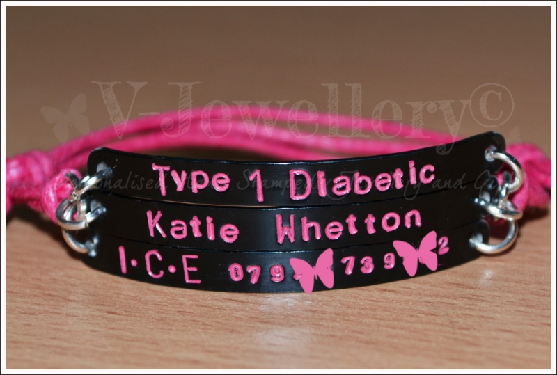Type 1 Diabetic Triple Multi-Plate Bracelet