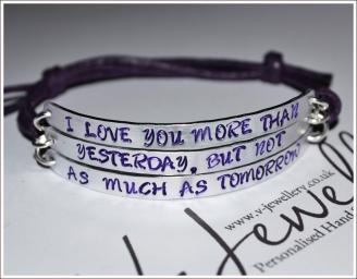 """I Love you more..."" Triple Multi-Plate Bracelet"