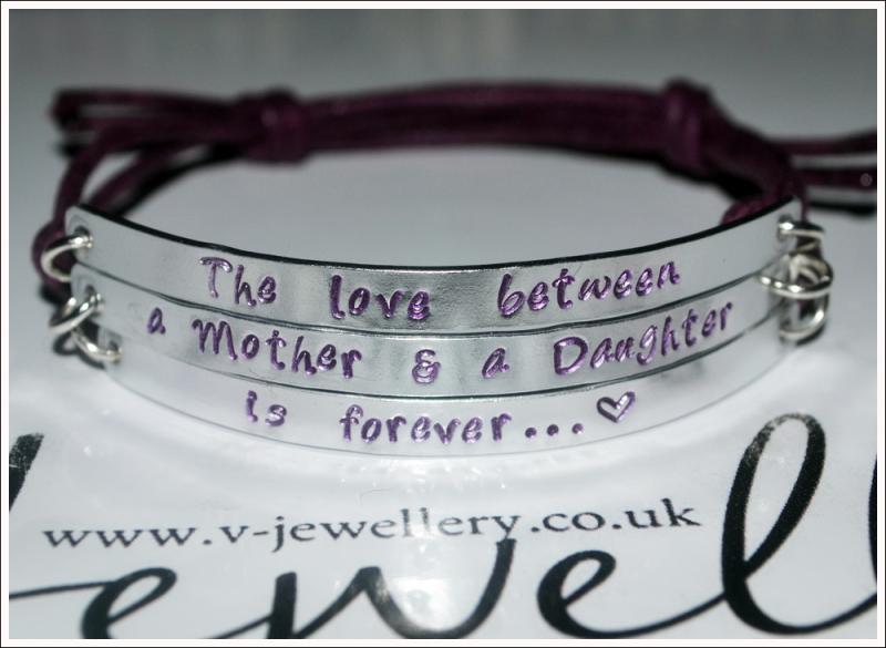 """Mothers Love is forever"" Multi-Plate Bracelet"