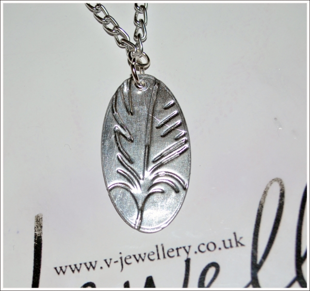 "Embossed Oval Pendant 20"" *Various Designs Available*"