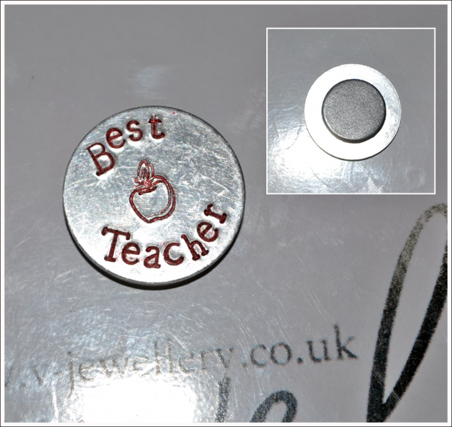 Personalised Hand Stamped Teachers Magnet