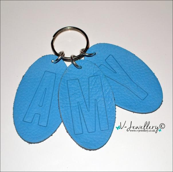 Personalised Name Genuine Leather Keyring
