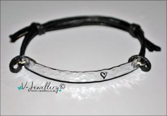 Design Textured Hammered Hand Stamped Bracelet *Various Designs Available*