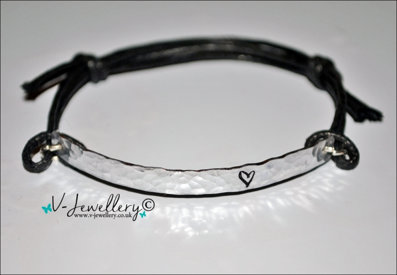 Design Textured Hammered Hand Stamped Bracelet *Various Designs Available*