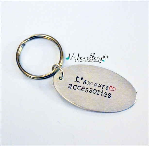 Personalised Hand Stamped Keyring