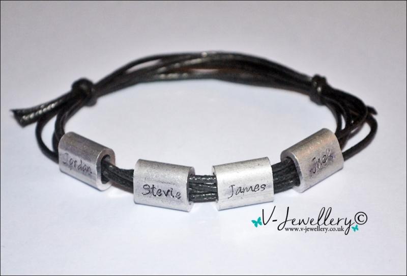 Personalised Bead Charm Wrap Bracelet