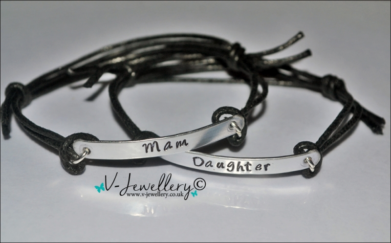 Mother & Daughter(s) Hand Stamped Bracelet Set