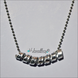 "Personalised ""Secret Message"" Wrap Pendant *Stainless Steel Ball chain 20 inch*"