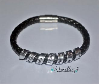"Personalised ""Secret Message"" Genuine Leather Wrap Bracelet"
