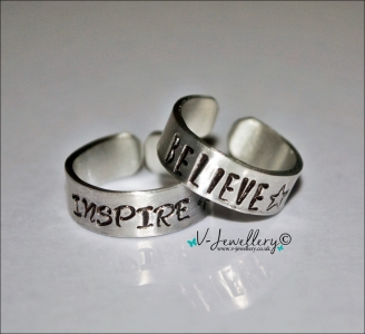 Personalised Hand Stamped Thumb Ring *Higher Quality*