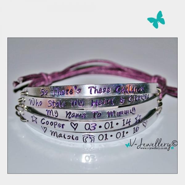 """Stole My Heart & Changed My Name"" Multi-Plate Bracelet"
