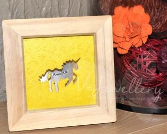 "Personalised Cut out ""Unicorn"" 3d Box Framed Keepsake"