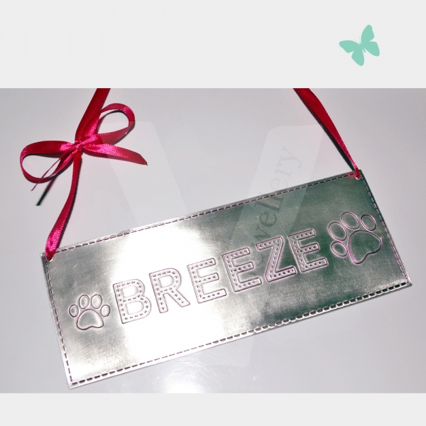 "Personalised Stitched Effect Xl ""Name"" Plaque *Various Themes Available*"