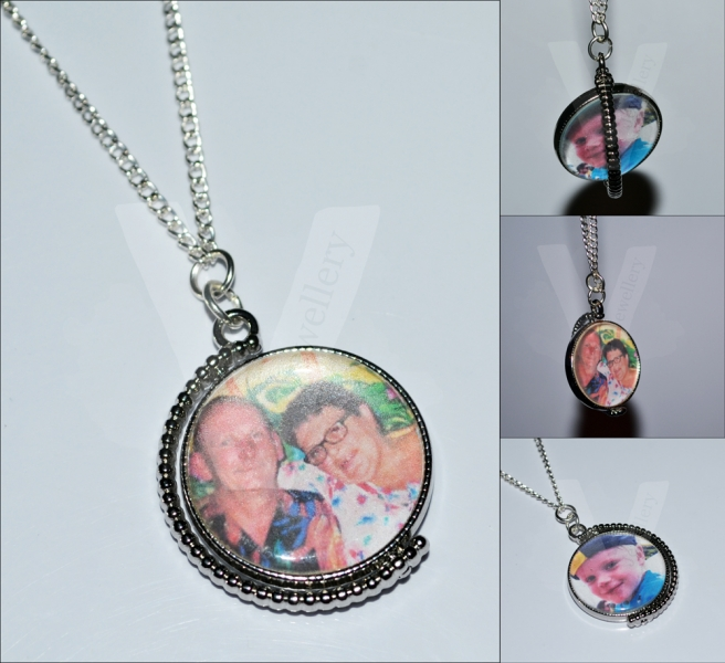 """Personal Large Photo Spinning Pendant *26"""""""