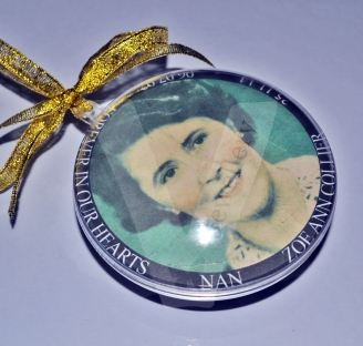 Personalised XXL Photo Bauble Hanging Keepsake *Double Sided*