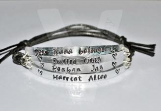 Grandparent belongs to... Multi-Plate Bracelet