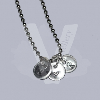 """Personalised Initial Charm Pendant 20"""" *Stainless Steel Ball Chain*"""
