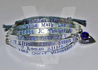 Personalised 7 Multi-Plate Hand Stamped Bracelet