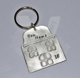 """Personalised """"New Home"""" House Keyring"""