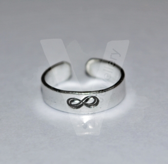 """""""Infinity Symbol"""" Hand Stamped Band Ring"""