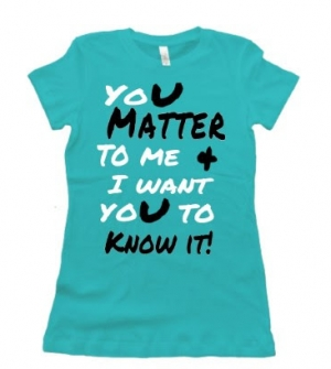 Women's U Matter  / premium fitted tee