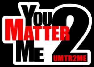 "3-Pack Vinyl Sticker ""You Matter 2 Me"""