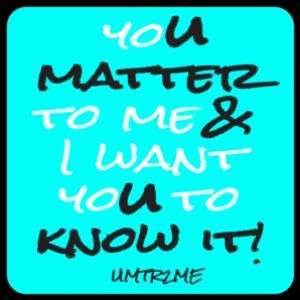 "3-Pack Vinyl Sticker ""U Matter & U Know It"""